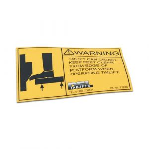 Keep Feet Clear Decal