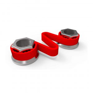 Checklink Wheel Nut Retainers - Red