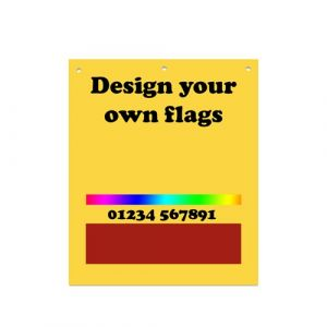 Printed Tail Lift Warning Flags - up to 2 colours
