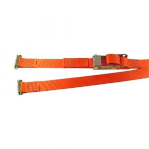 Heavy Duty Box Van Strap with E-Track Fittings, 50mm, 2000kg, Orange