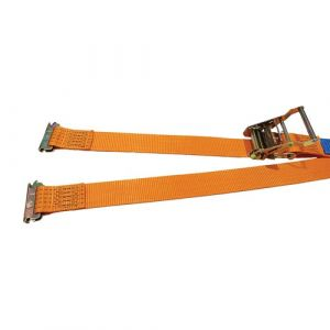Box Van Ratchet Strap with E-Track Fittings, 50mm, 2000kg, Orange