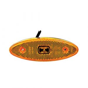 24V LED Amber Surface Oval Mounted Side Marker Lamp